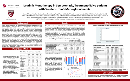 Ibrutinib Monotherapy in Symptomatic, Treatment-Naive patients with Waldenstrom's Macroglobulinemia